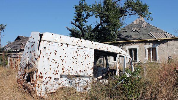 The village Veseloe in Donetsk region. 28.09.2015 - Sputnik International