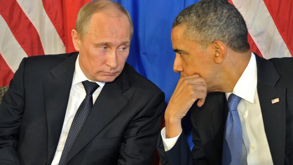 Russian President Vladimir Putin meets US President Barack Obama - Sputnik International