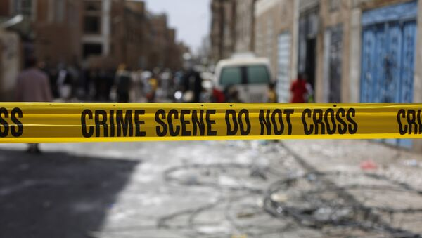 Police tape cordons off the site of a car bomb attack in Sanaa, Yemen, Tuesday, June 30, 2015. - Sputnik International