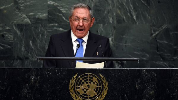 Cuban President Raul Castro addresses the 70th Session of the UN General Assembly September 28, 2015 in New York. - Sputnik International