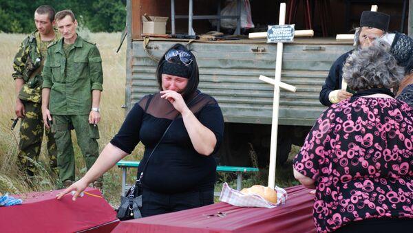 Funeral of militia men in Donetsk Region - Sputnik International