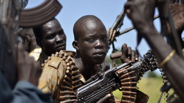 South Sudan government soldiers in the town of Koch, Unity state, South Sudan, Friday, Sept. 25, 2015 - Sputnik International