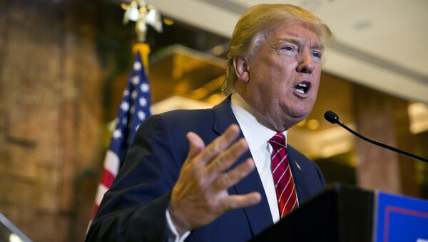 Republican presidential hopeful Donald Trump announces his tax plan during a press conference at Trump Tower in New York on September 28, 2015 - Sputnik International