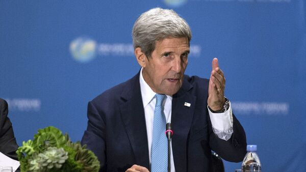 US Secretary of State John Kerry speaks during the Major Economies Forum on Energy and Climate(MEF) meeting on September 29, 2015 in New York - Sputnik International