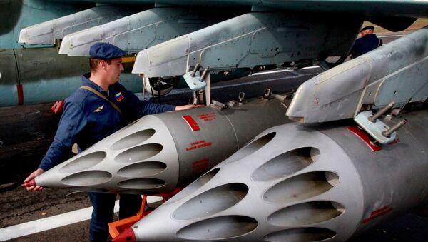 Preparing a Su-25 Grach assault aircraft to take off. File photo - Sputnik International