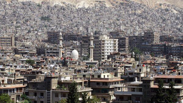 A general view shot taken on June 30, 2015, shows a neighbourhood in the Syrian capital Damascus - Sputnik International