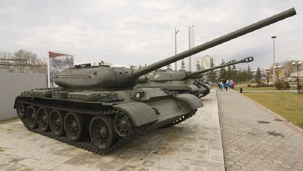 Tank T-54-1 in Verkhnyaya Pyshma war museum - Sputnik International