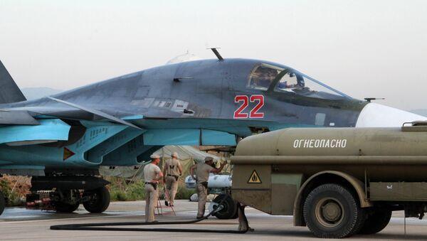 Sputnik Exclusive: Russian Sukhoi jets at airfield near Latakia - Sputnik International