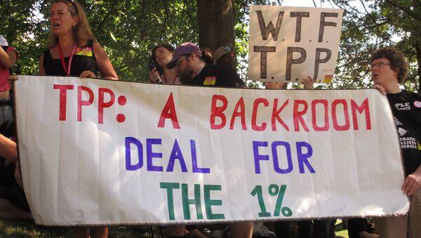 Protesters at the TPP Leesburg rally in Virginia, US. - Sputnik International