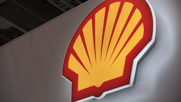 A picture shows the logo of Anglo-Dutch oil giant Shell - Sputnik International