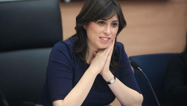 Tzipi Hotovely sits in the Knesset, Israel's parliament, in Jerusalem. - Sputnik International