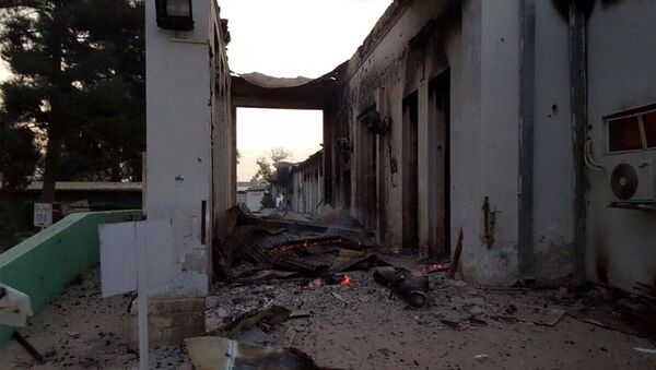 The burnt Doctors Without Borders hospital is seen after an explosion in the northern Afghan city of Kunduz, Saturday, Oct. 3, 2015. - Sputnik International