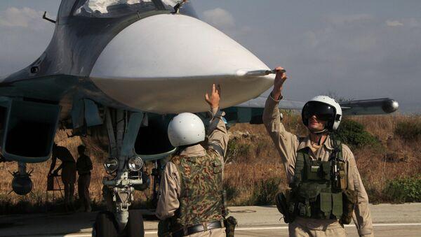 Russian war planes at Hmeymim base in Syria - Sputnik International
