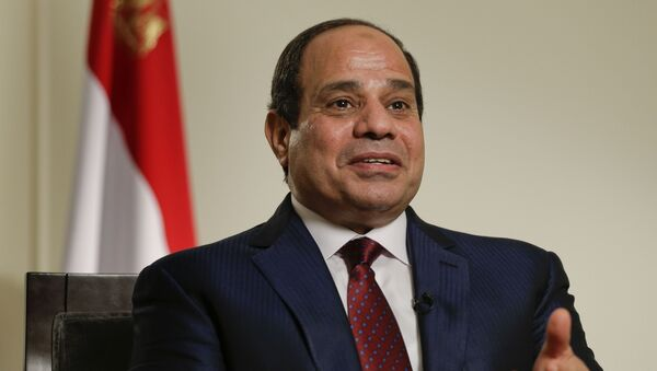Egyptian President Abdel Fattah el-Sisi answers questions during an interview, Saturday, Sept. 26, 2015, in New York - Sputnik International