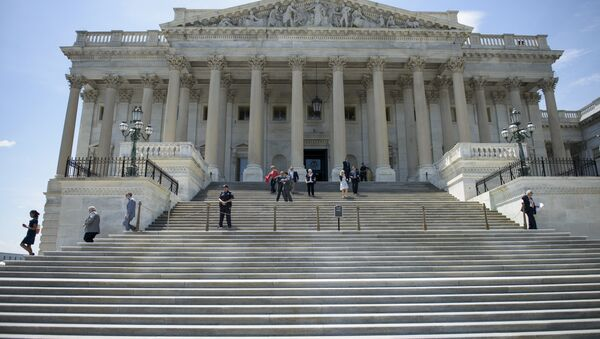 Members of Congress leave after a series of votes effecting the fast tracking of the Trans-Pacific Partnership on Capitol Hill June 12, 2015 in Washington, DC. The House of Representatives voted down a bill that will could effect the fast tracking of the Trans-Pacific Partnership trade agreement. - Sputnik International