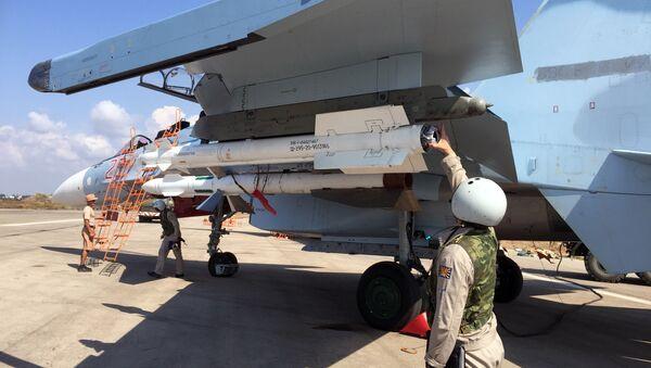 Russian tactical group seen at Hmeimim aerodrome in Syria - Sputnik International