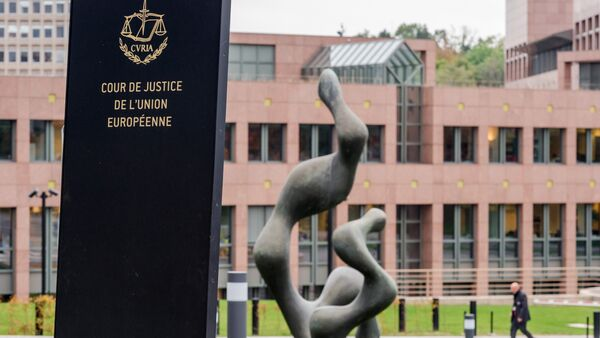 In this photo taken on Monday, Oct. 5, 2015 a man walks by the European Court of Justice in Luxembourg - Sputnik International