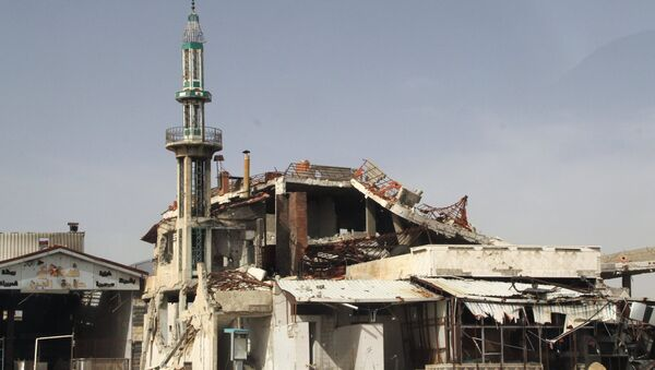 A mosque destroyed as a result of the hostilities in Homs, Syria FILE PHOTO - Sputnik International