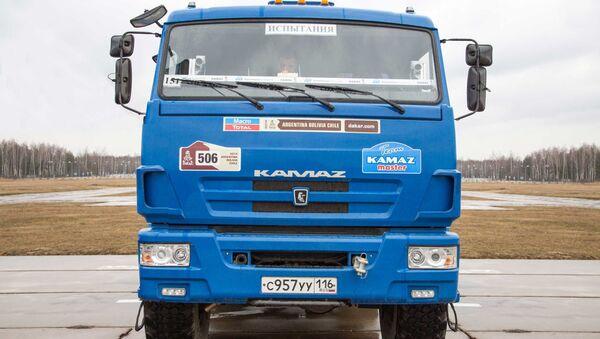 One of the Kamaz trucks used to test the new unmanned truck's sensor equipment. - Sputnik International