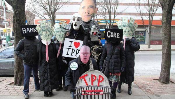 Anti-TPP rally - Sputnik International