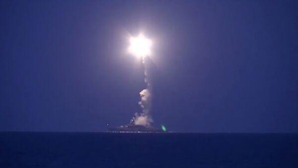 Massive strike on targets in Syria from the Caspian Sea - Sputnik International