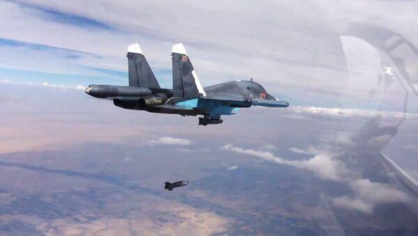 Russian air force strike the Islamic State in Syria - Sputnik International