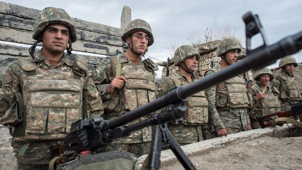 Troops in the zone of the Nagorno-Karabakh conflict - Sputnik International