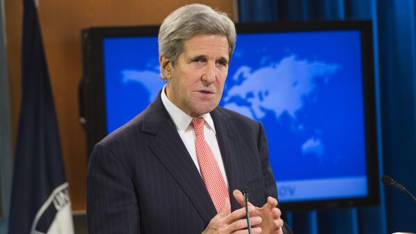 US Secretary of State John Kerry speaks during the release of the 2014 International Religious Freedom Report at the US State Department in Washington, DC, on October 14, 2015 - Sputnik International