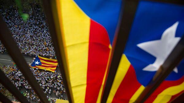 National Day of Catalonia celebrated in Barcelona - Sputnik International