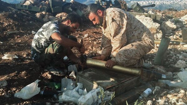 Syrian army positions near Aramu - Sputnik International