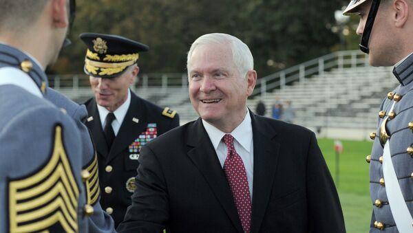 Robert M. Gates rides greets Cadets at West Point, N.Y., on Thursday, Oct. 6, 2011. - Sputnik International