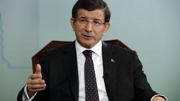 Turkish Prime Minister Ahmet Davutoglu. - Sputnik International