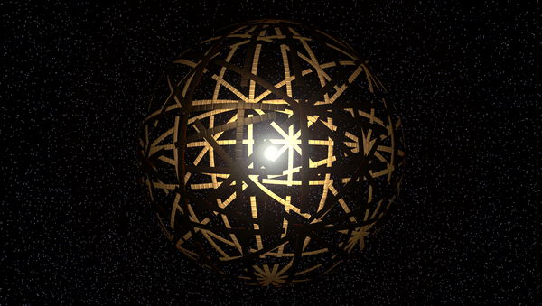 Artist rendering of a Dyson Sphere, a theoretical device used to harness a star's energy. - Sputnik International