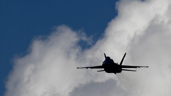 An F/A-18 Hornet fighter jet of the Swiss Air Force - Sputnik International