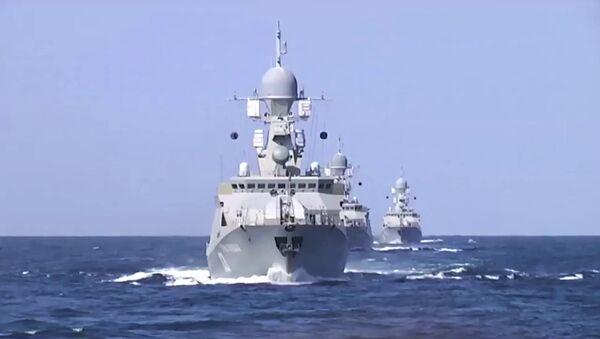 Caspian Flotilla warships - Sputnik International