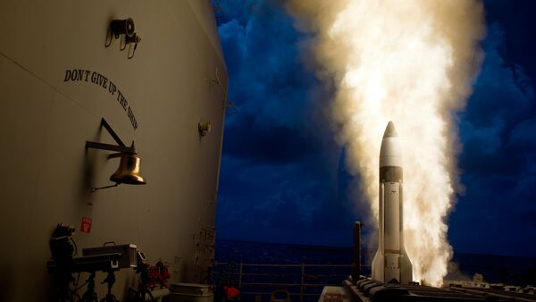 An SM-3 Block 1B interceptor is launched from the guided-missile cruiser. File photo - Sputnik International