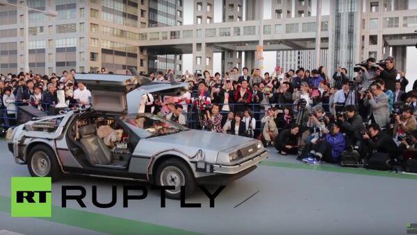 Japan: Bio-ethanol powered Delorean revealed for 'Back to the Future' day - Sputnik International