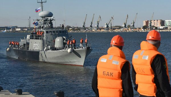 Iranian ships in Astrakhan - Sputnik International