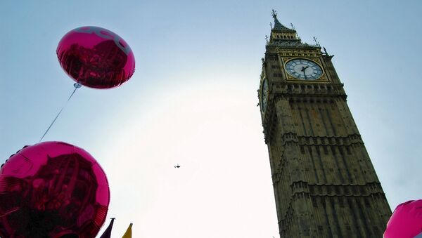UCU balloons on the TUC's A Future That Works demonstration in Westminster - Sputnik International