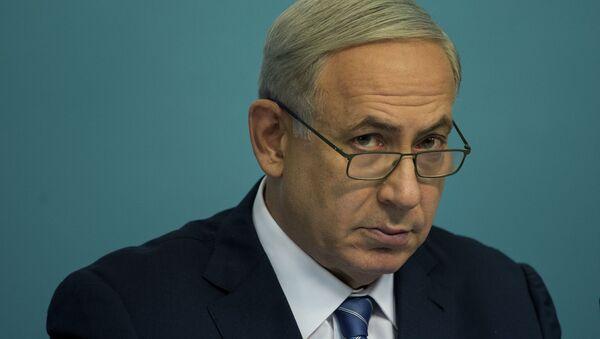 Israeli Prime Minister Benjamin Netanyahu speaks during a press conference at his office in Jerusalem, Israel, Thursday, Oct. 8, 2015. - Sputnik International