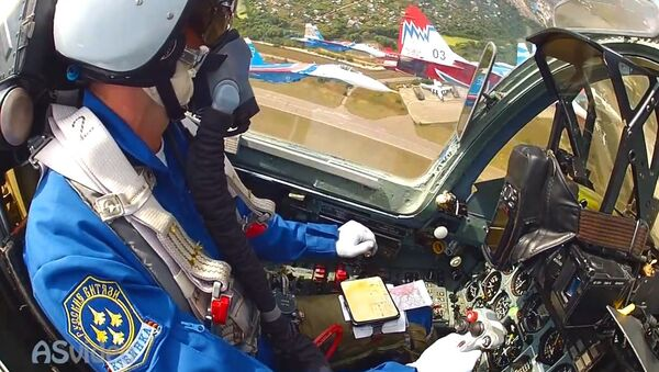 GoPro mounted the tail of the MiG 29 and Su 27 cockpit - Sputnik International