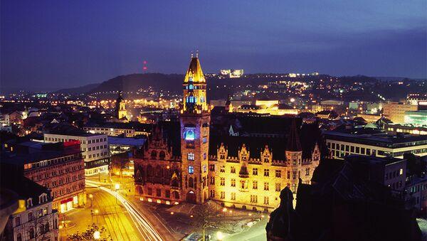 The city hall in Saarbrucken, the capital of Saarland, at night - Sputnik International