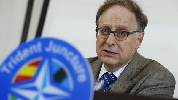 NATO Deputy Secretary General, Ambassador Alexander Vershbow talks during a news conference during a NATO military exercise at the Birgi NATO Airbase in Trapani, Italy October 19, 2015 - Sputnik International
