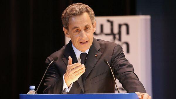 France's former President Nicolas Sarkozy gives speech to MGIMO University students - Sputnik International
