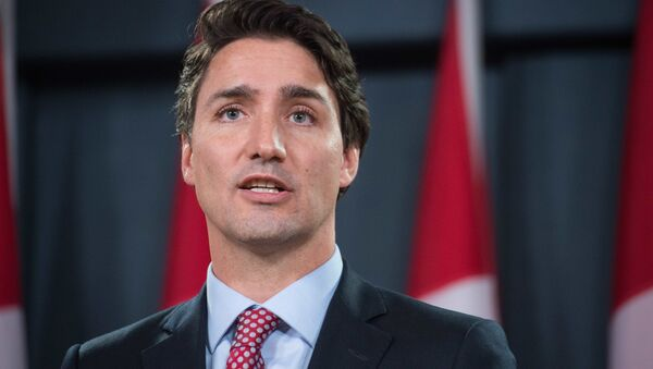 Canadian Liberal Party leader Justin Trudeau speaks at a press conference in Ottawa on October 20, 2015 after winning the general elections - Sputnik International