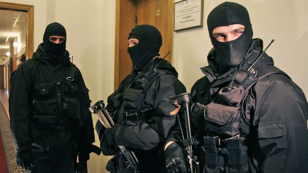 Ukrainian national security service armed agents. File photo - Sputnik International