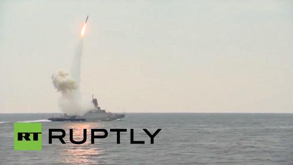 Caspian Flotilla flaunts its missile strike power - Sputnik International