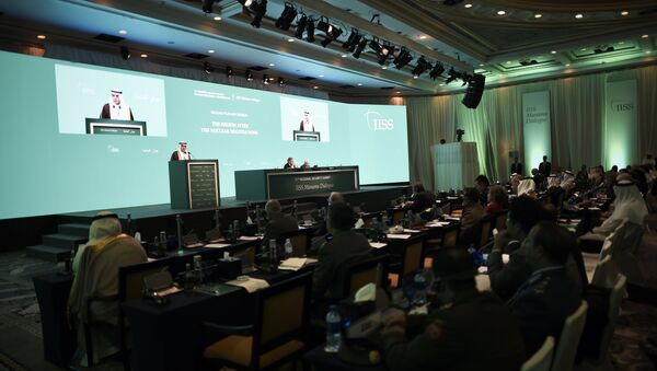 Saudi Foreign Minister Adel al-Jubeir delivers a speech during the 11th Manama Dialogue Regional Security Summit organised by the International Institute for Strategic Studies (IISS) in the Bahraini capital, Manama, on October 31, 2015 - Sputnik International