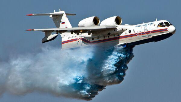 Russian amphibious Be-200 aircrafts - Sputnik International