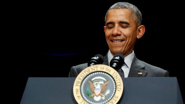 U.S. President Barack Obama smiles as he delivers remarks at the annual White House Tribal Nations Conference in Washington November 5, 2015 - Sputnik International